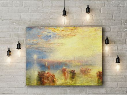 William Turner: Approach to Venice. Fine Art Canvas.